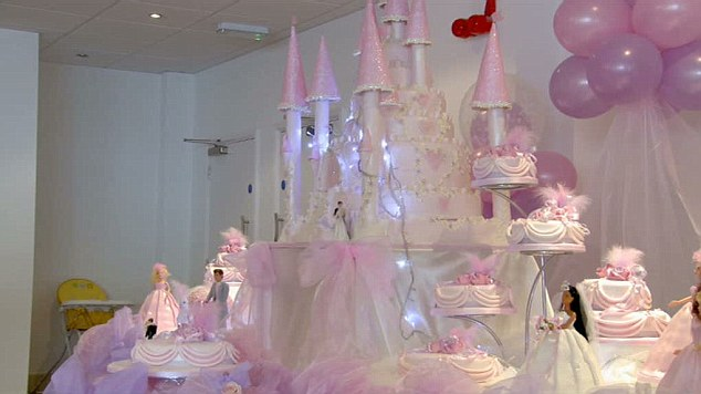 Decorating Ideas for Wedding Cakes A castle cake is the perfect choice for